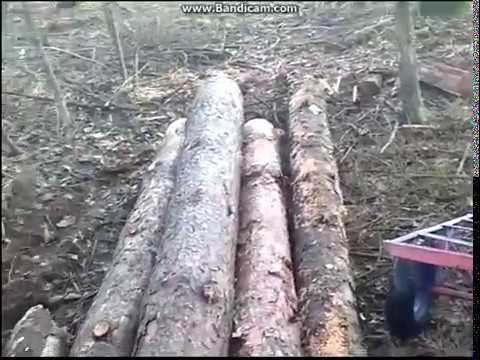 Заготовка леса в одиночку №6 Трелёвка без трактора