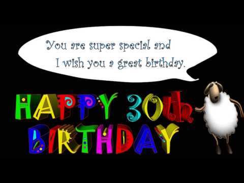 30th Birthday Greetings And Wishes Youtube
