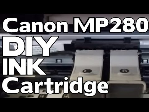 how to replace the ink cartridge on a canon pixma mp 280 diy youtube. Black Bedroom Furniture Sets. Home Design Ideas
