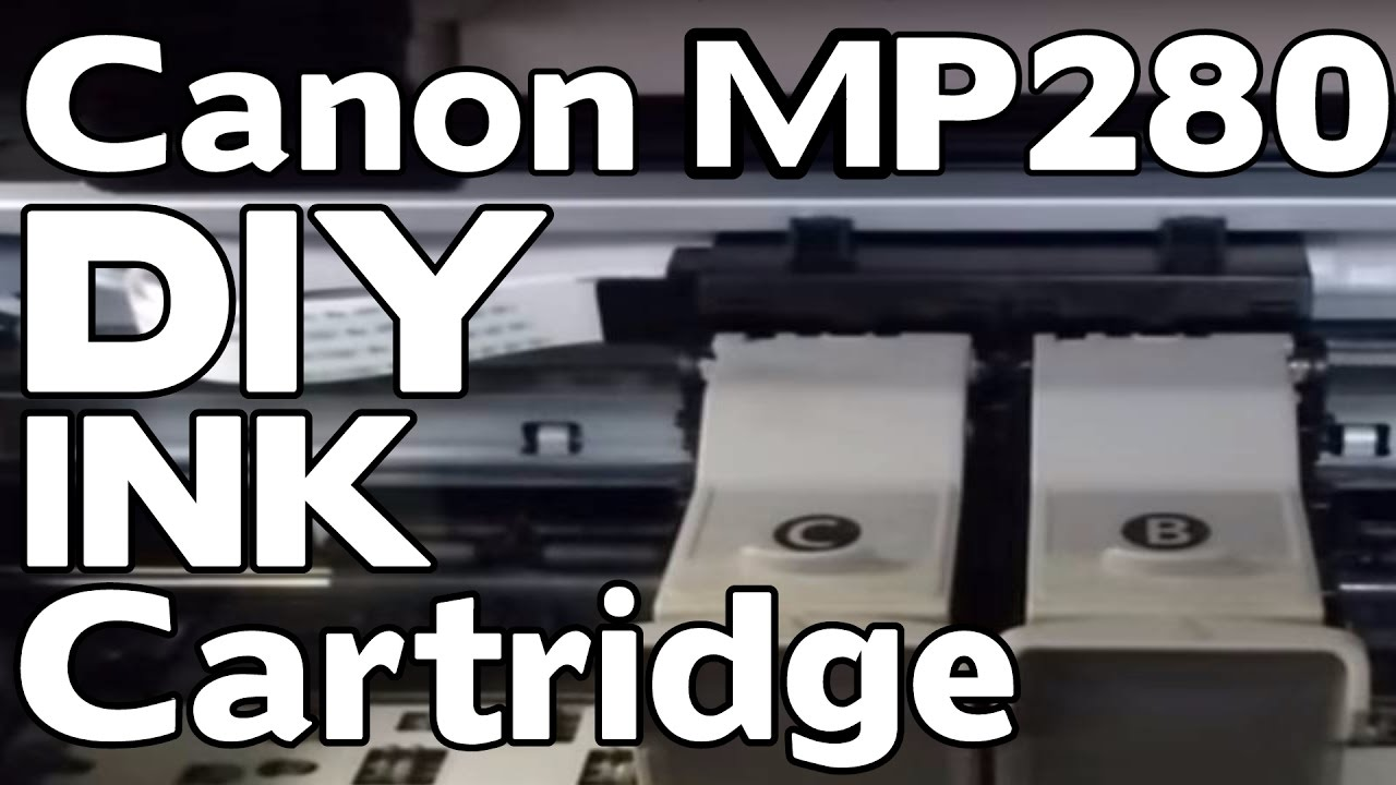 How To Replace The Ink Cartridge On A Canon Pixma Mp 280 DIY