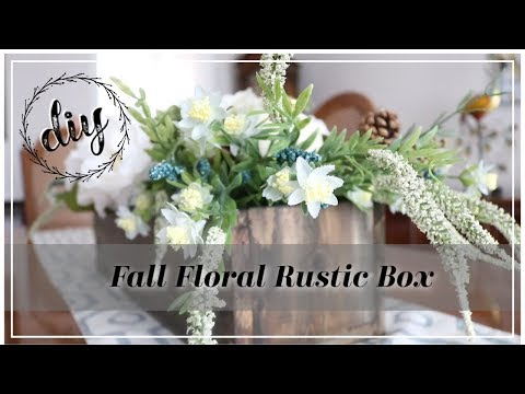 DIY Fall Floral Rustic Box Centerpiece | How to create a Transitional Floral Centerpiece