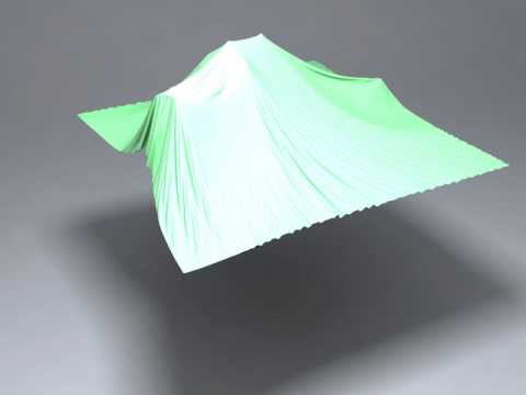 A GPU-based Streaming Algorithm for High-Resolution Cloth Simulation