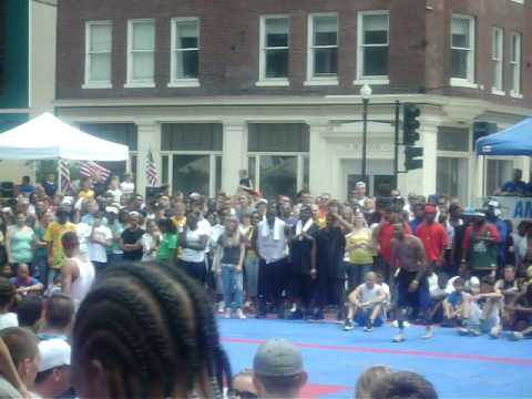 Quincy illinois gus macker dunk contest 1st place winner