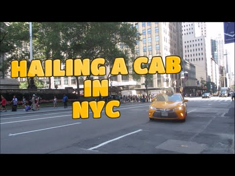 How To Hail A Taxi In New York City - HD