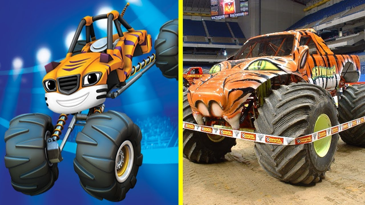 Blaze And The Monster Machines Characters In Real Life All