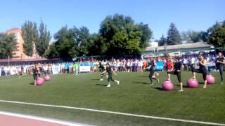 """Фитнес-студия """"Тело"""", день физкультурника. Батайск, 2015г."""