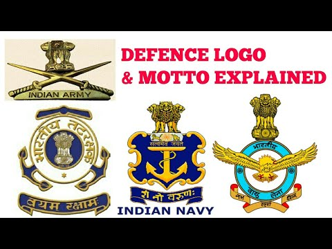 INDIAN ARMY, NAVY, IAF LOGO & MOTTO| PARA MILITARY FORCES LOGO'S EXPLAINED | IN HINDI.