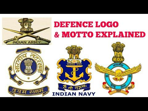 Indian Army Navy Iaf Logo Motto Para Military Forces Logos