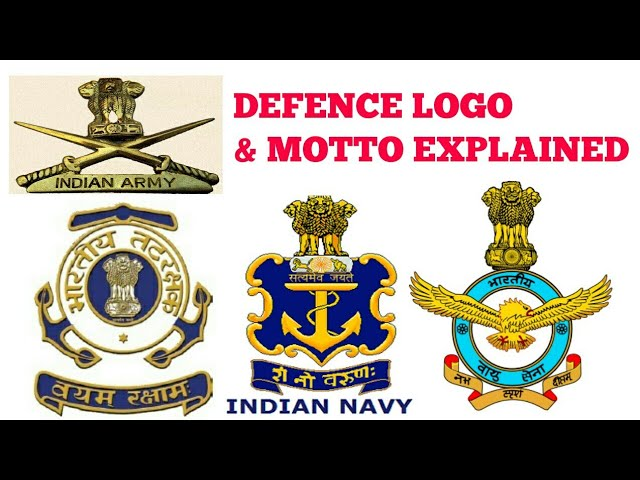 Indian Army Navy Iaf Logo Motto Para Military Forces Logo S Explained In Hindi Youtube