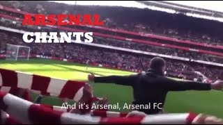 10 Chants You'll Hear at The Emirates  WITH LYRICS  Arsenal Chants