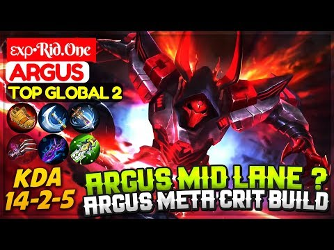Argus Mid Lane? Argus Meta Crit Build [ Top 2 Global Argus ] εxρ•Rid.One Argus Mobile Legends