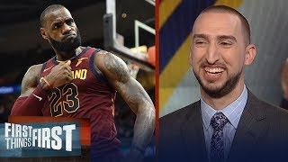 Nick Wright on LeBron's Cavs vs Pacers, Pelicans challenging Warriors in West | FIRST THINGS FIRST