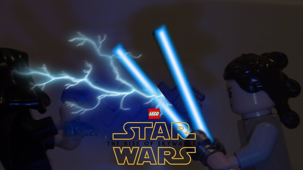 Lego Star Wars The Rise Of Skywalker Rey Vs Palpatine Stop Motion Youtube