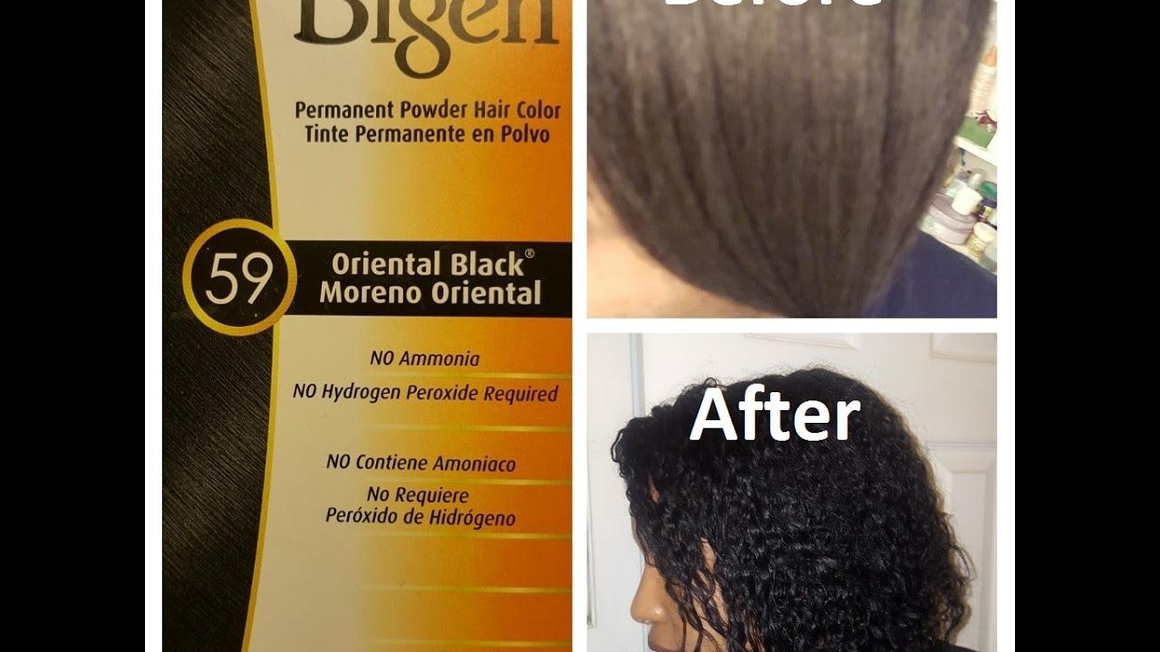 Bigen Permanent Hair Color Review Youtube