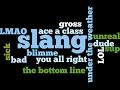 やさしい英語会話 (272) English Slang (1)