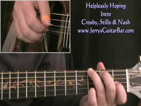 How To Play Crosby, Stills & Nash Helplessly Hoping (intro only)
