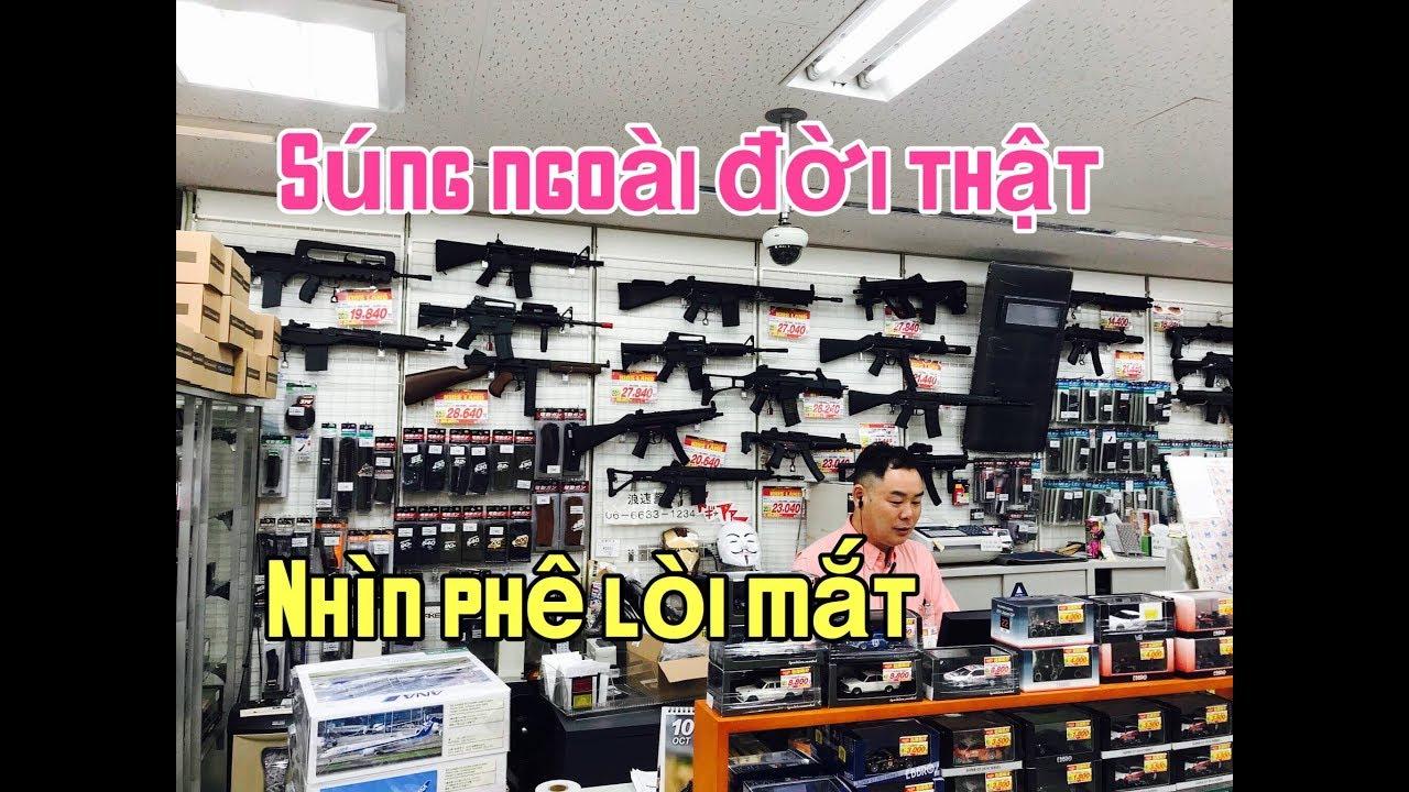 """Vào trong cửa hàng bán """"SÚNG"""" Tại Nhật Bản"""