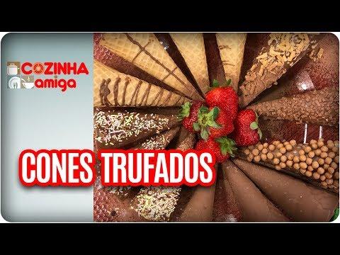 Cones Trufados - Dalva Zanforlin | Cozinha Amiga (01/02/18)