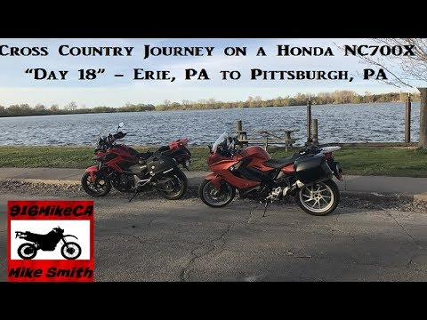 Cross County on a Honda NC700X   Day 18    Erie, PA to Pittsburgh, PA