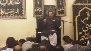Allama Zameer Akthar Naqvi Reading Masaib - 5/8/14 - Al Raza Foundation Manchester