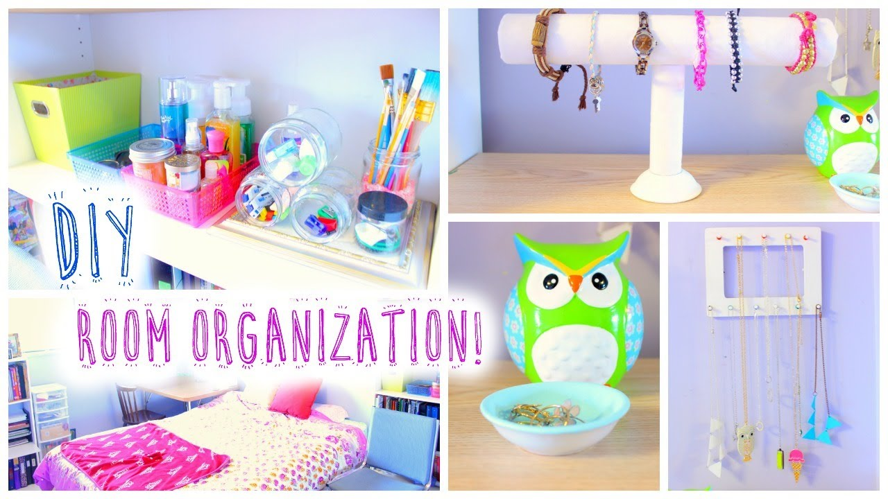Diy room organization and storage ideas for summer youtube for Room decor organization
