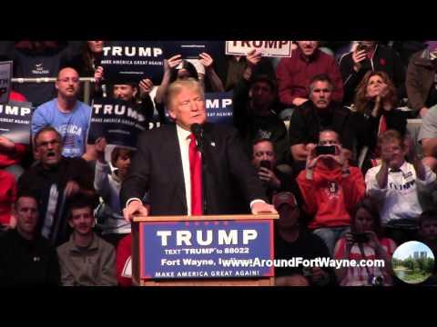 2016/05/01: Donald Trump in Fort Wayne Indiana