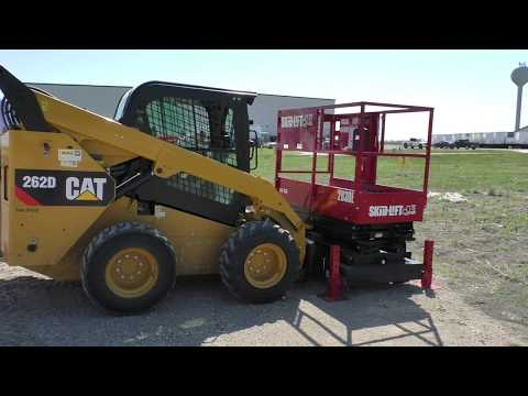 Enabling Auxiliary Hydraulics on a CAT 262D Skidsteer - YouTube