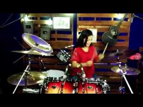 DJ tik tok akimilaku cover drum cantik keren abis!!!!!