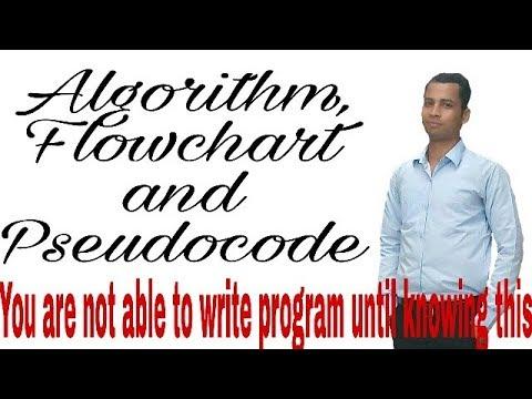 Algorithm, flowchart and pseudocode (Hindi/English)