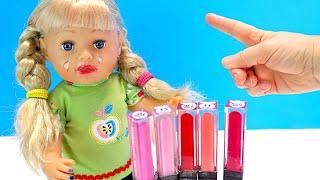 Фото СМЫВАЙ БЫСТРЕЙ ПОМАДУ! Мама Не Разрешает Краситься Мультики Как Мама Куклы Беби Бон 108мама тв