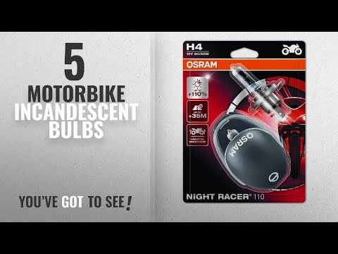 Top 10 Motorbike Incandescent Bulbs [2018]: Osram 64193NR1-02B Night Racer 110 H4 Motorcycle