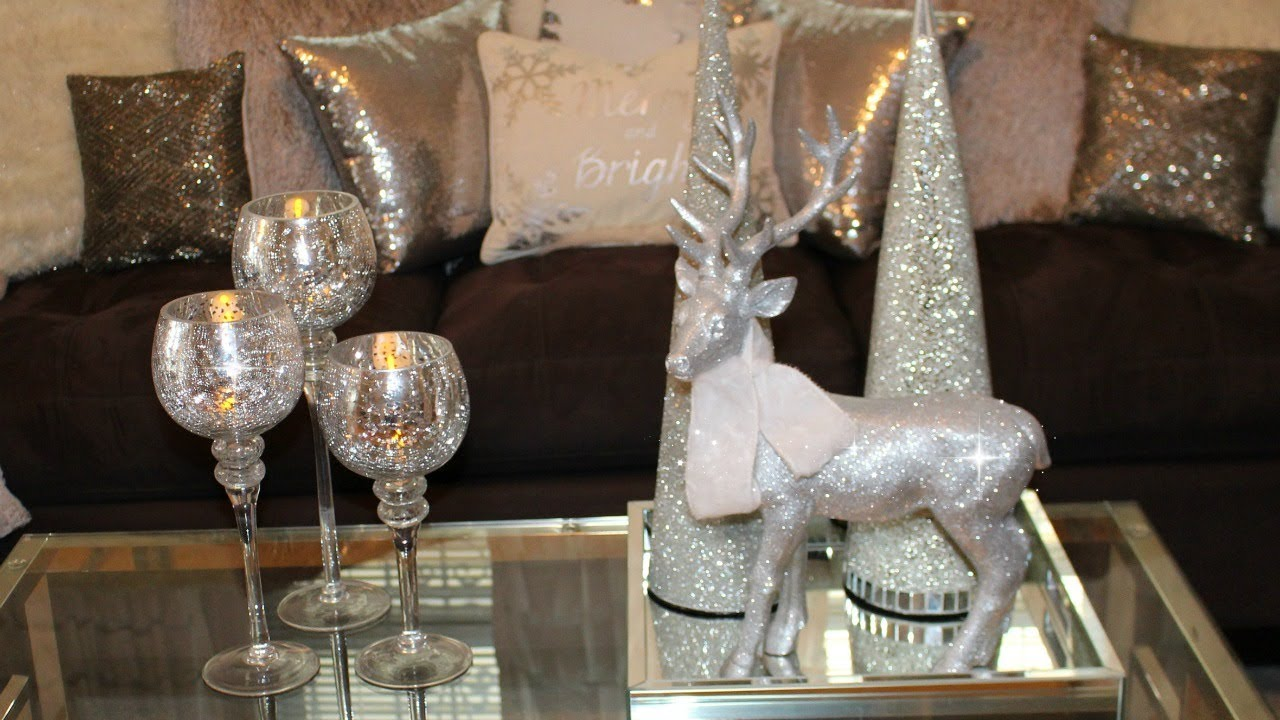 Glam Christmas Coffee Table Decor Ideas 2017 Youtube