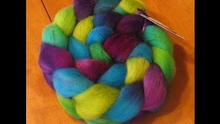 Spinning Auora Borealis Yarn --- spinning my stash #2