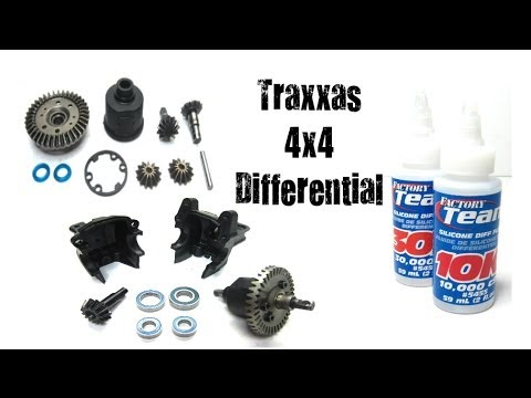 How To Maintain Clean & Re Oil Traxxas 1/10 4x4 Differential