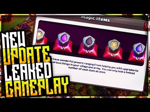 Leaked Gameplay! - Clash of Clans March Update - CoC Big Update 2018   Trader, Ring of Walls, BH8