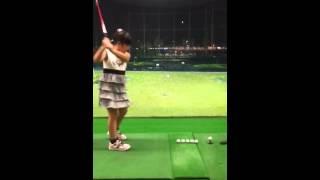 8歳ゴルファー連打打ち、世界一に成りたいな!