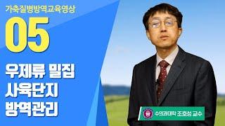 「설문조사 이벤트」 5강. 우제류 밀집 사육단지 방역관…