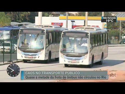 Greve dos caminhoneiros afeta transporte público em todo o país | SBT Brasil (24/05/18)