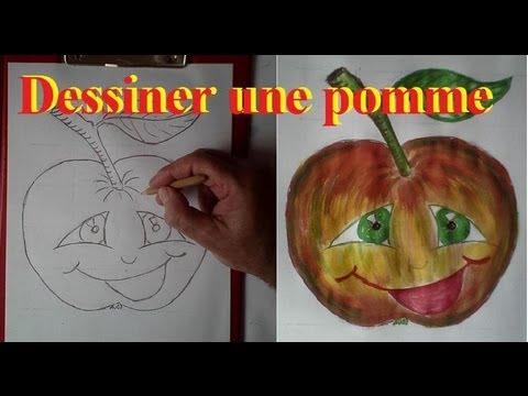Apprendre dessiner des fruits dessin d une pomme - Dessiner un fruit ...