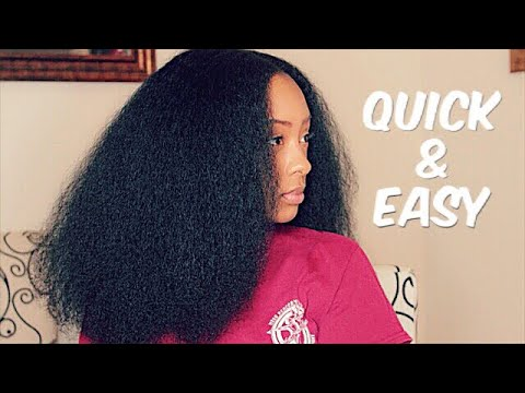 How To: Blowdry Natural Hair | Quick & Easy with MINIMAL HEAT