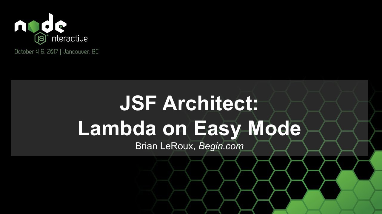 JSF Architect: Lambda on Easy Mode