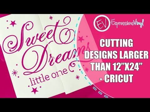 photograph regarding Cricut Printable Image Too Large called Slicing Larger sized Than 12X24 With Your Cricut - YouTube