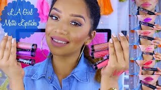 Waste or Worth it Wednesday | L.A Girl Matte Liquid Lipsticks + Lip Swatches