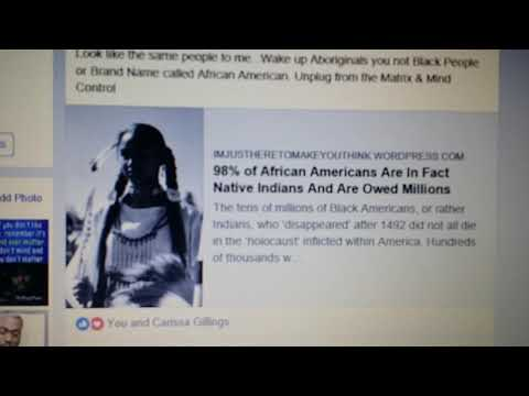 My Facebook Post DNA says African Americans are Native Indians / Aborigines of North America /