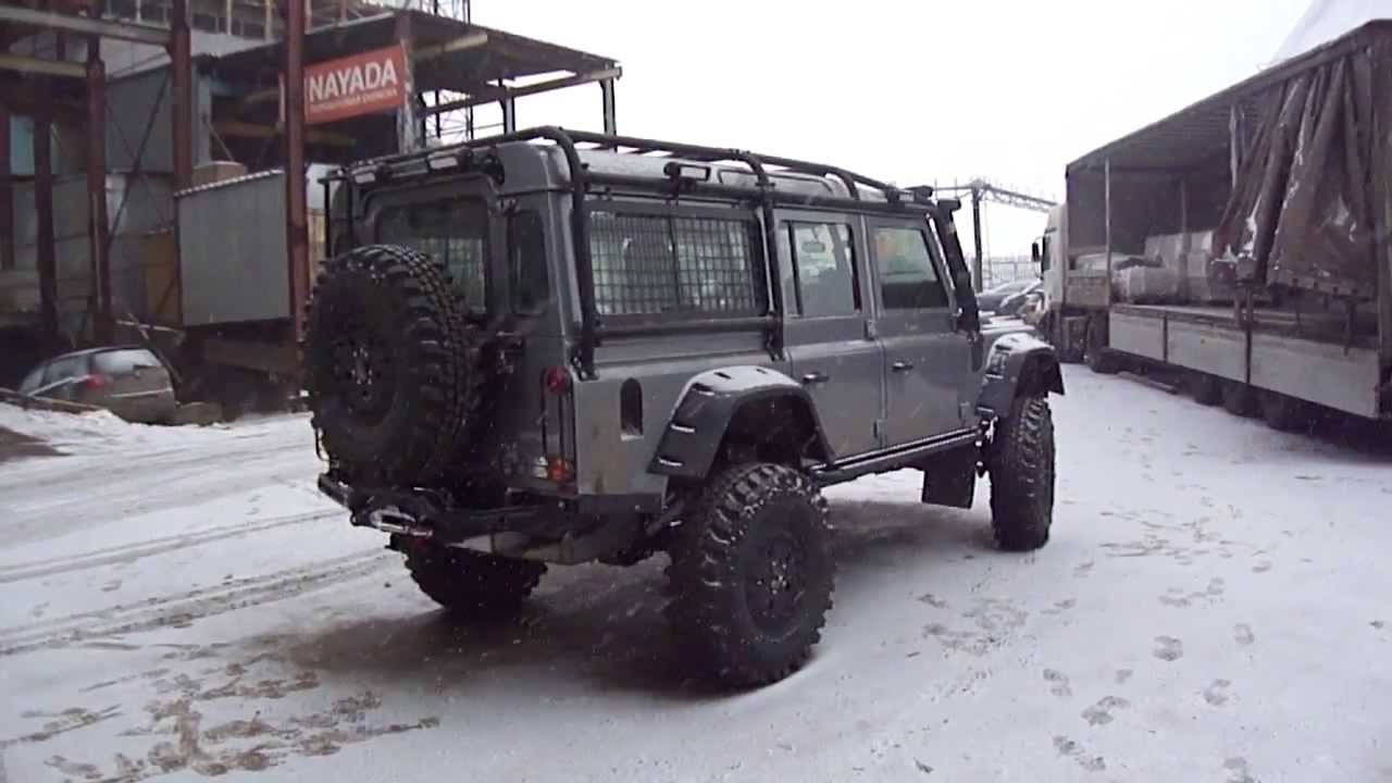 Land Rover Defender на порталах Tibus часть 1 Youtube