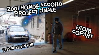 Copart 2001 Honda Accord Project Finale