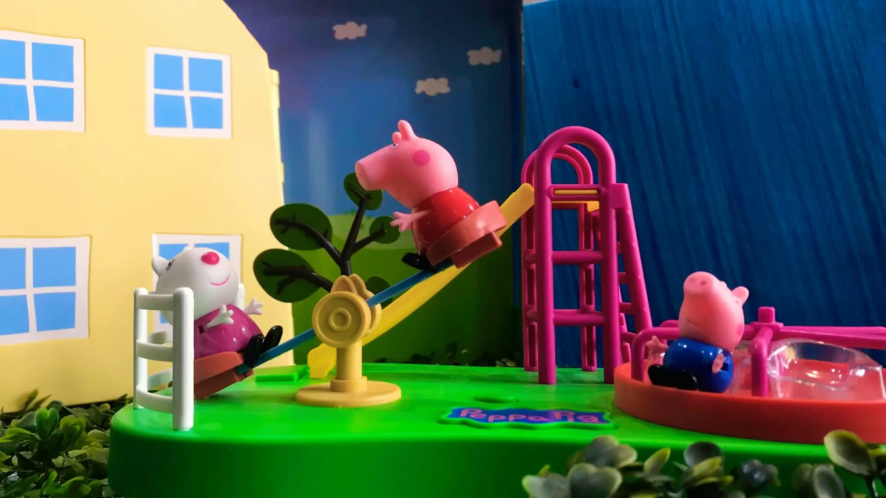 Peppa Pig Playground Stop Motion Peppa Pig Toys Youtube