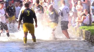 Bourton Rovers Takes Part In The Annual Football In The River Match!