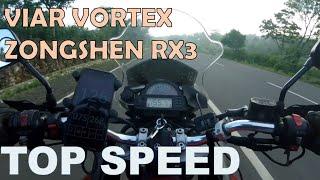 Viar Vortex  Zongshen/csc Rx3  Top Speed Vs Gps