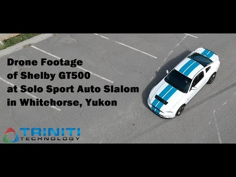 DRONE footage of Shelby GT500 provided by Triniti Technology